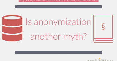 Anonymisation of Personal Data