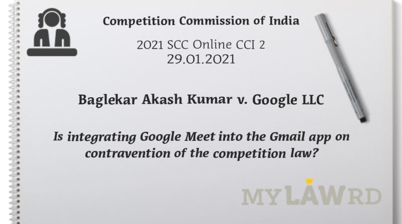 Competition Commission Google Meet
