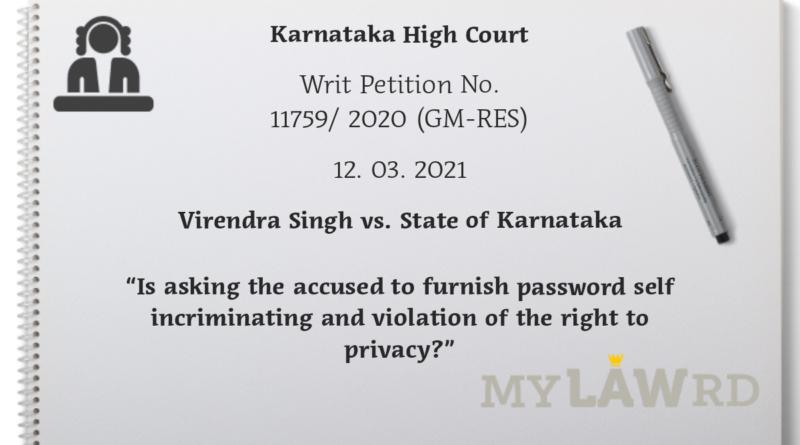 virendra khanna state of karnataka